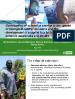 Contribution of extension service to the uptake of biological control solutions and the development of a digital tool to further enhance awareness and uptake