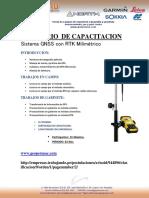 Temario de Capacitacion Sistema GNSS Geomax 555 Canales