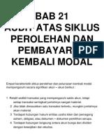 Bab 21 - Audit Siklus Perolehan Dan Pbayaran Kembali Modal