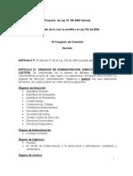 86 Proyecto de Ley 19 de 2006 Organos de Administracion y Vig Coop