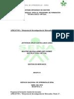 """Proyecto de Investigación de Mercados- Parte 2""."