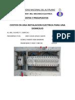 Costos en Instalaciones Eléctricas
