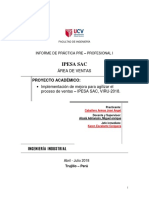 Estructura Del Informe Final de Prácticas Preprofesionales