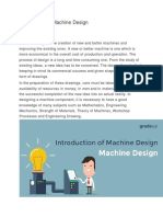 Introduction of Machine Design