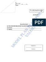 Anexa 27 Model Plan de Paza Transport Valori