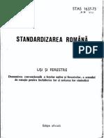 STAS 1637-73 Usi Si Ferestre