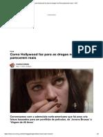 Cinema - Drogas Falsas No Set