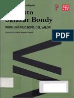 Salazar Bondy, Augusto - Para Una Filosofía Del Valor