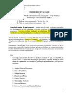 Criterii Evaluare Pedagogie I