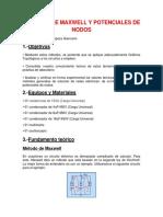 Métodos de Maxwell y Potenciales de Nodos