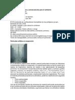 Agentes Contaminantes y Consecuencias Para El Ambiente