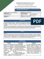 Carta Descriptiva Taller de Investigación