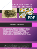 Pharmaceutical Form Based on Oregano and Chamomile