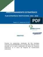 Plan Estrategico Institucional 2015-2018 v3