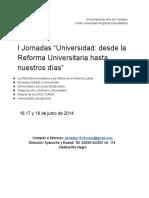 Universidad Desde La Reforma Universitaria Hasta Nuestros Días