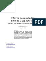 Informe de Resultados Empleo y Capacitación1