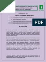 TEORÍA DE LAS FINANZAS TRADICIONALES