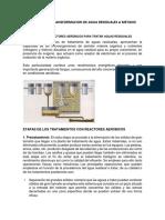 Procesos de Transformacion de Agua Residuales a Metano