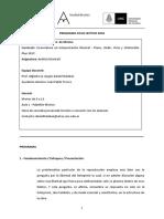 Programa Ciclo Lectivo 2018 Analisis Musical i Def