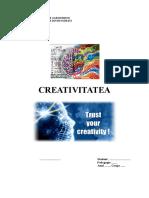 Model Referat Creativitatea