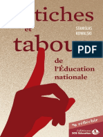 Fetiches Tabous Education Nationale