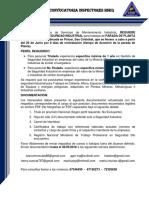 Convocatoria Parada de Planta Ppml045 Inspectores
