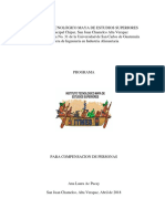 Diseño de Programa de Compensacion