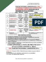 2 Cronograma de Actividades y Evaluaciónó Tesis 2016-1