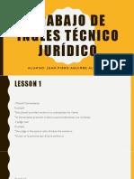 Trabajo de Ingles Técnico Jurídico