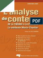 Christian Leray-L'analyse de contenu _ De la theorie a la pratique, la methode Morin-Chartier.pdf
