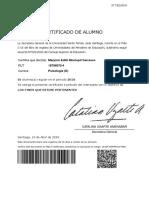certificado alumno