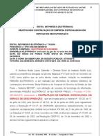 PREGÃO ELET. 071/2010 INSTITUTO ADOLFO LUTZ SERVIÇO DE DESCUPINIZAÇÃO