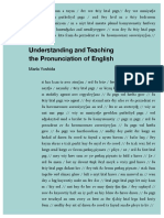 Understanding and Teaching the Pronunciation of English