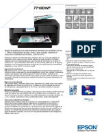 WorkForce WF 7710DWF Datasheet