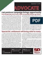 SDEA September 2010 Advocate for Website