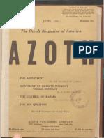 Azoth, June 1918