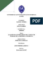 ANALISIS DE LOS PRINCIPIOS FUNDAMENTALES DEL CDIGO DE TRABAJO DE LA REPBLICA DOMINICANA