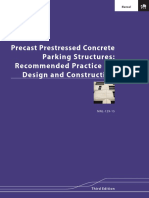 Precast Prestressed Concrete Parking Structure Recommended Practice for Design and Construction 3rd Edition MNL 129 15