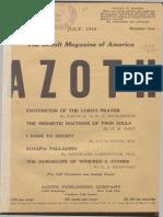 Azoth, July 1918