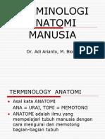 TERMINOLOGI ANATOMI MANUSIA
