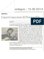 LA NUOVA SARDEGNA - Concerto Porqueddu Firenze 2014 - 2