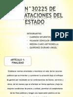 Ley de Contrataciones Del Estado - Exposición Gubernamental
