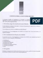 Convocatoria Elecciones SICEFA 2018-2019