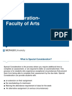 Applying for Special Consideration