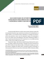Documentário de Intervenção - Estratégias Discursivas de Combate