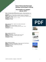 Nouveautes Langues 201301