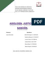 Axiología, Justicia y Sanción.