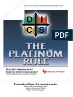 DISC Platinum Rule® Behavioral Style Assessment