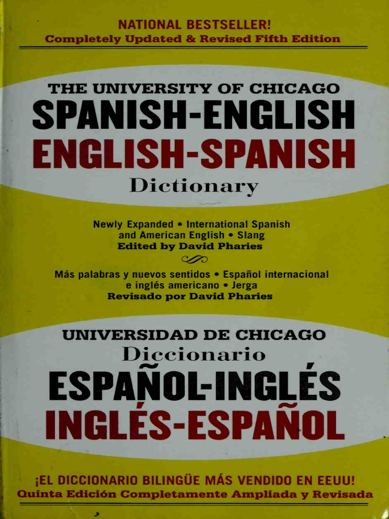 The University of Chicago Spanish dictionary Spanish-English 150fc5150f5