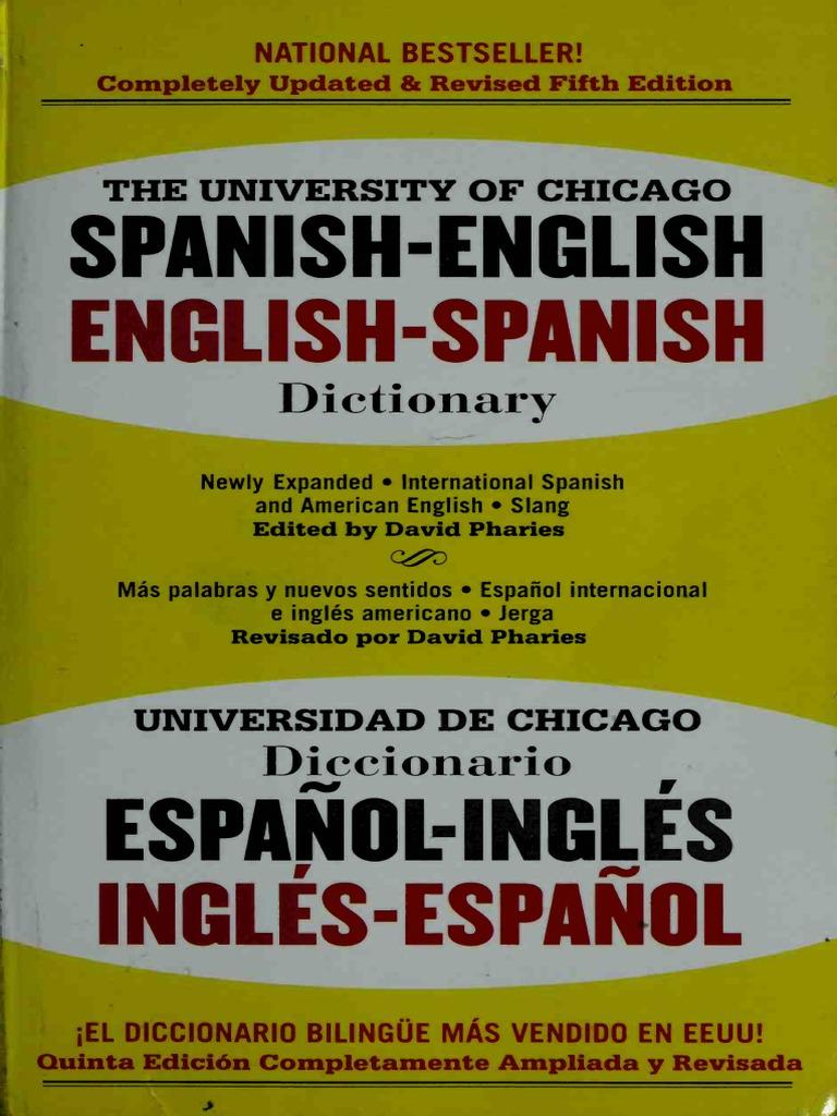 The University of Chicago Spanish dictionary Spanish-English 5c2e6185f6f7